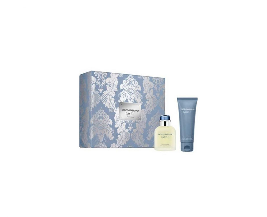 Set cadou Dolce&Gabbana Light Blue Apa de toaleta 75ml + Balsam After Shave 75ml